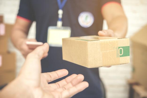 emballage købt på nettet